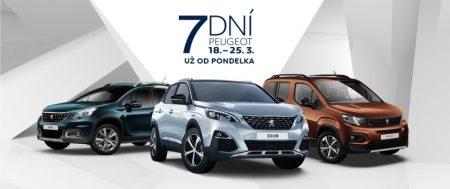 7DNÍ Peugeot. Bonus až do 4 700 €* a 0% leasing