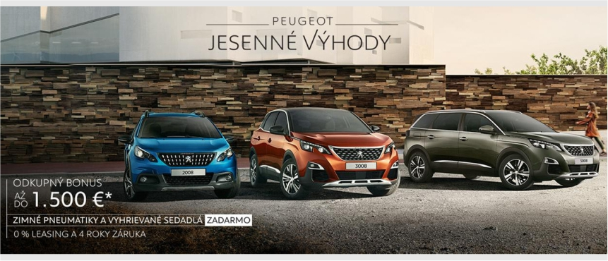 Peugeot jesenné výhody