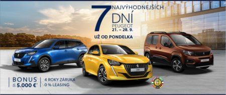 7 najvýhodnejších dní Peugeot