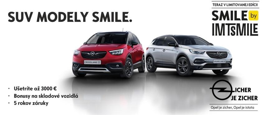 SUV modely Opel – limitovaná edícia SMILE